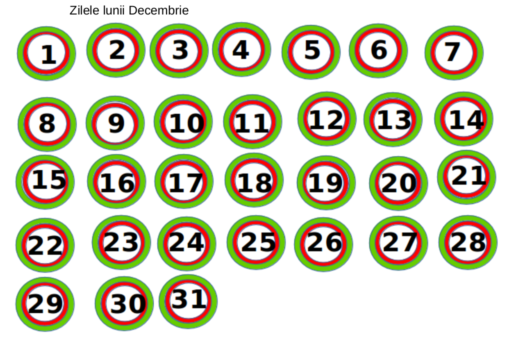 Calendar activități în luna decembrie